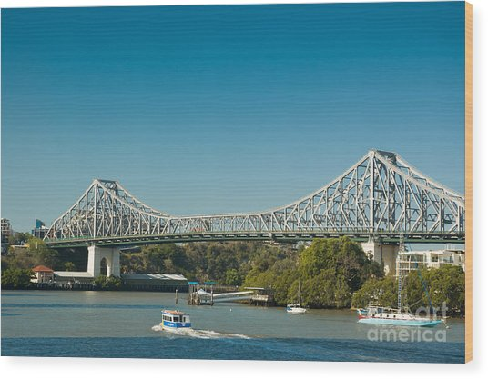 The Icon Of Brisbane - Story Bridge Wood Print