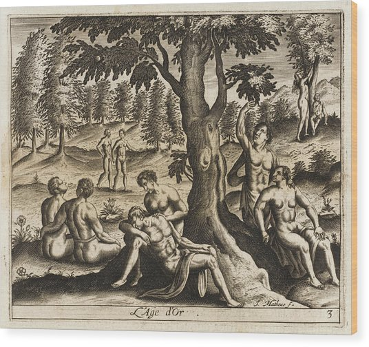 The Idyllic Period Of Human  History Wood Print by Mary Evans Picture Library