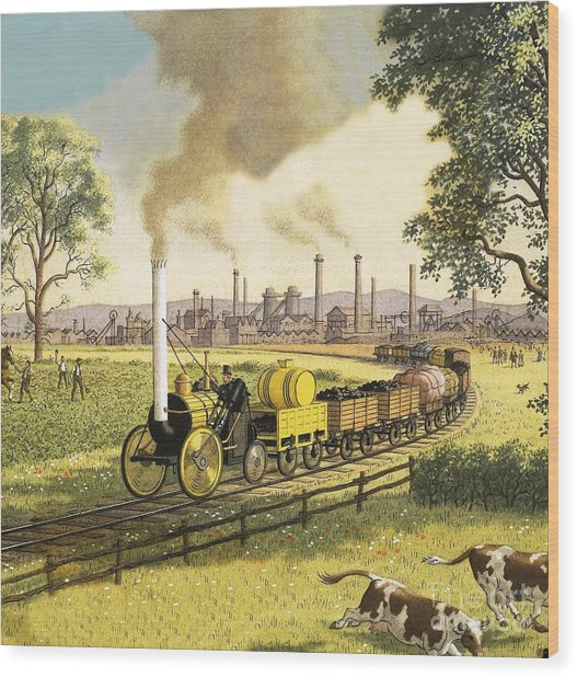 The Industrial Revolution Wood Print