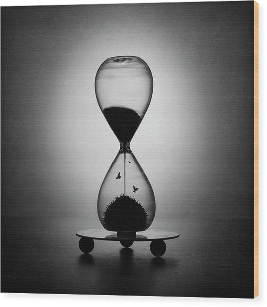 The Inexorable Passage Of Time Wood Print by Victoria Ivanova
