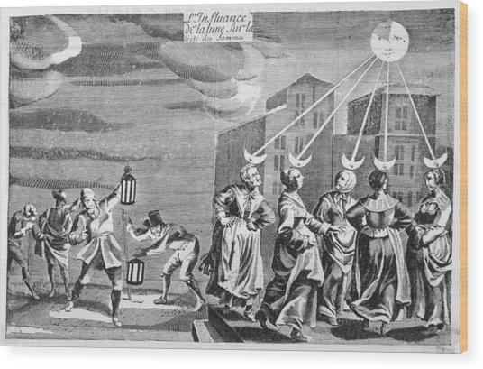 'the Influence Of The Moon Wood Print