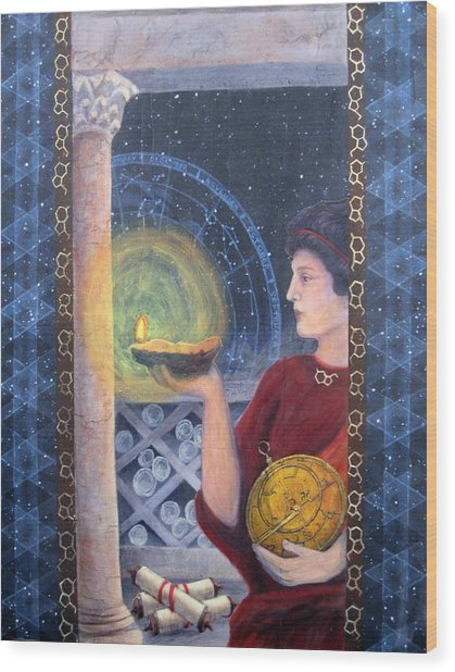 The Innovator Of Stars - Artwork For The Science Tarot Wood Print