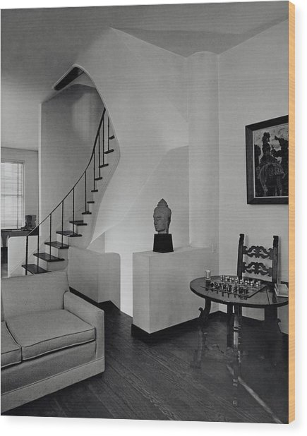 The Interior Of A Manhattan House Wood Print by Tom Leonard