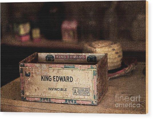 The Invincible King Edward Cigar Wood Print