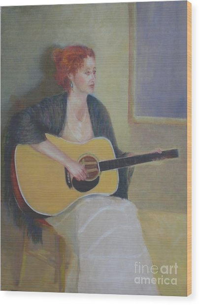 The Irish Singer    Copyrighted Wood Print by Kathleen Hoekstra