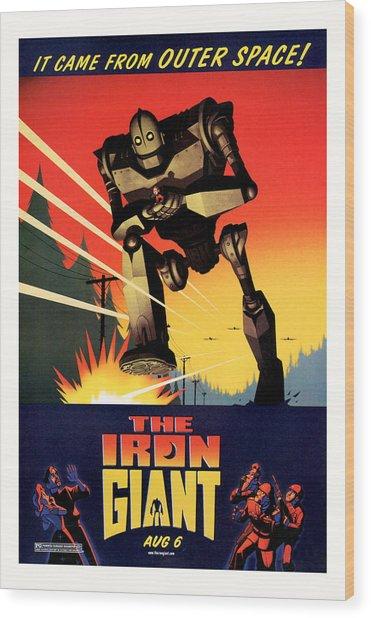 The Iron Giant 1999 Wood Print