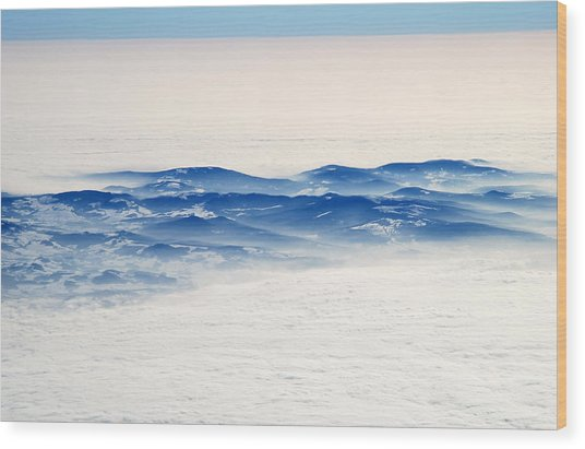 The Sea Of Clouds Wood Print