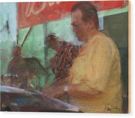The Jazz Trio Wood Print