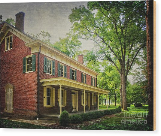 The John Stover House Wood Print