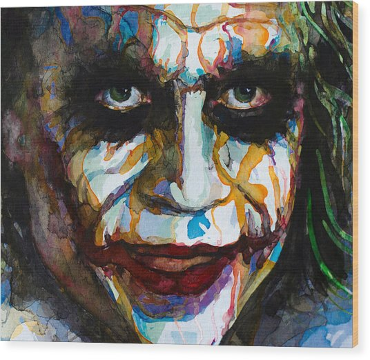 The Joker - Ledger Wood Print