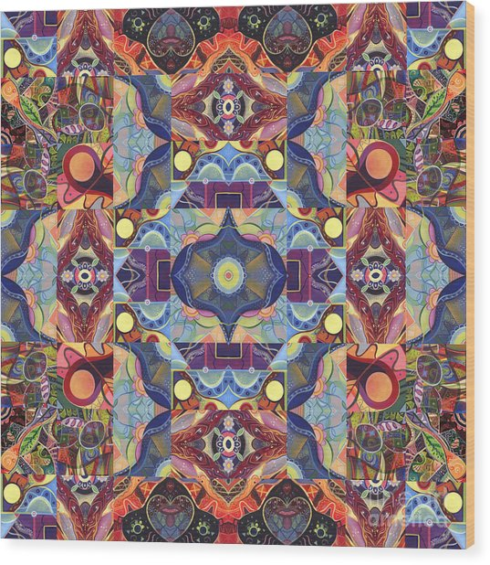 The Joy Of Design Mandala Series Puzzle 1 Arrangement 1 Wood Print
