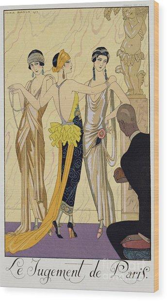 The Judgement Of Paris Wood Print