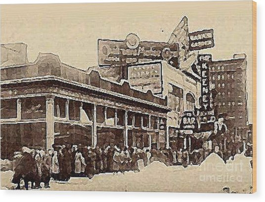 The Keeney Theatre In Newark N J In Winter 1914  Wood Print