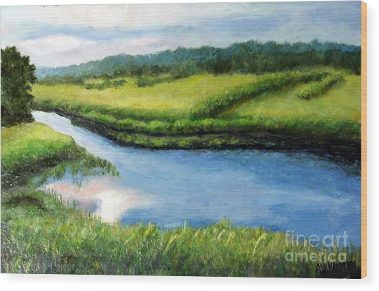 The Kennebecasis River Wood Print