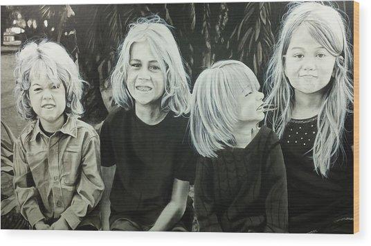The Kids Wood Print