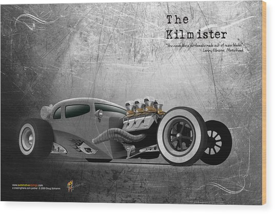 The Kilmister Wood Print