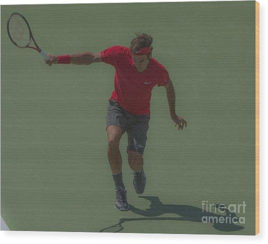 The King Of Tennis Wood Print