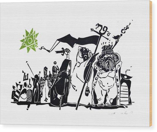 The King's Advisors Wood Print