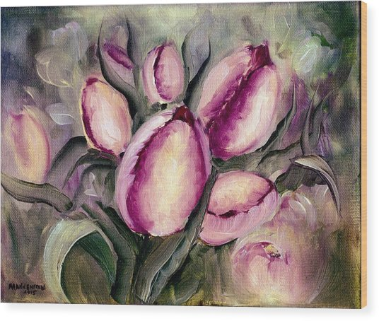 The Kings Tulips Wood Print
