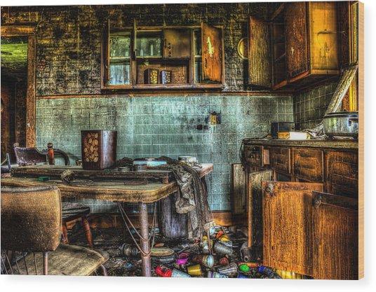 The Kitchen Wood Print