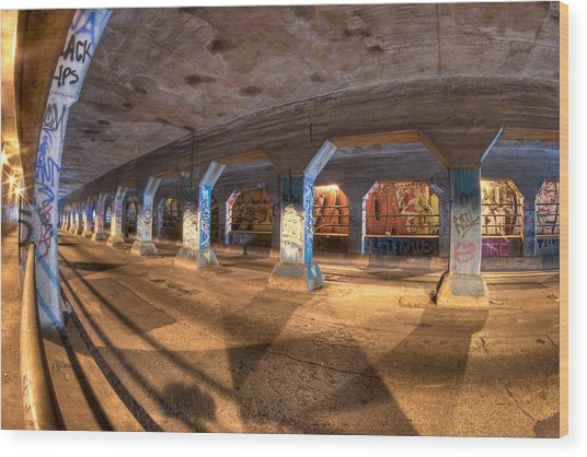 Wood Print featuring the photograph The Krog Street Tunnel by Mark E Tisdale