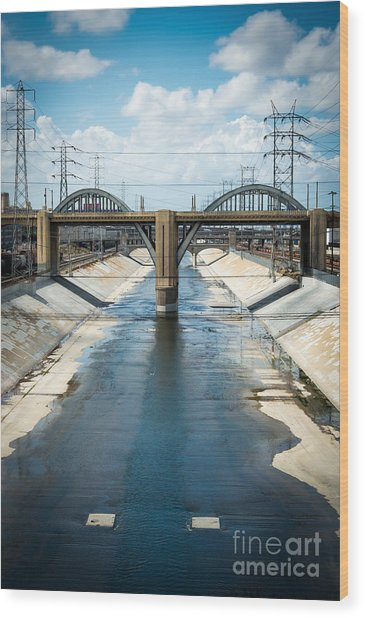 The La River Wood Print