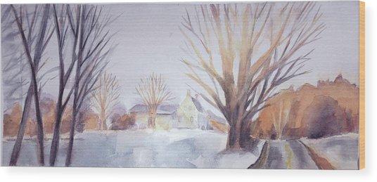 The Landscape Listens Wood Print