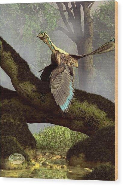 The Last Dinosaur Wood Print