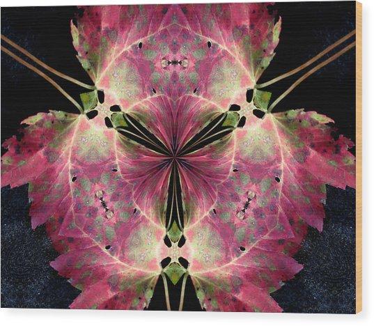 The Last Leaf Wood Print by Diane Carlson