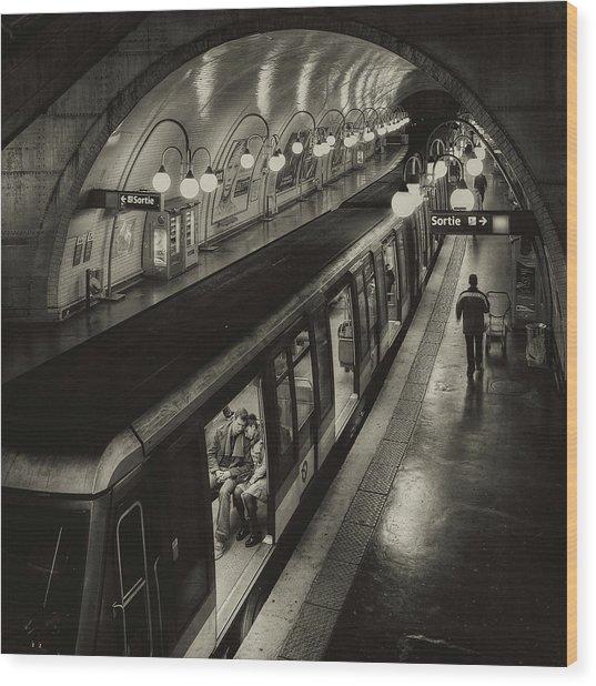 The Last Metro Wood Print