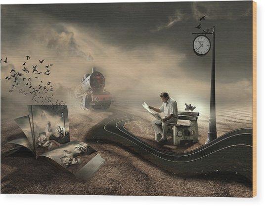 The Last Passenger Wood Print by Leyla Emektar La_