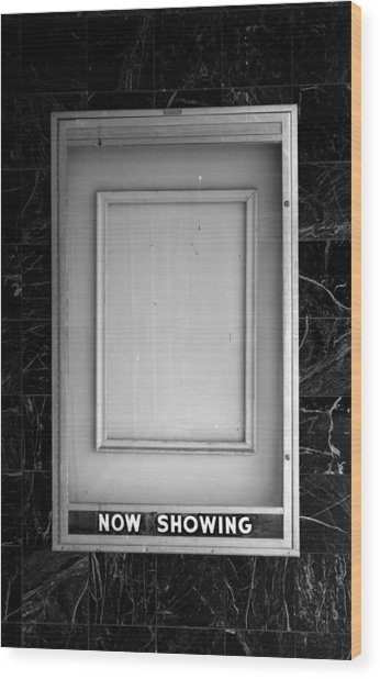 The Last Picture Show Wood Print by Vince  Risner