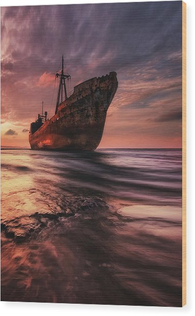 The Last Port Wood Print by