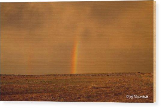 The Last Rainbow Wood Print