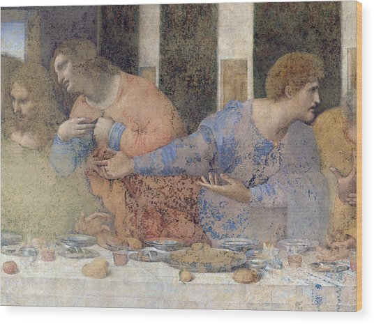 Detail Of The Last Supper Wood Print