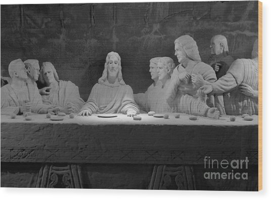 The Last Supper Wood Print by David Ricketts