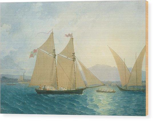 The Launch La Sociere On The Lake Of Geneva Wood Print