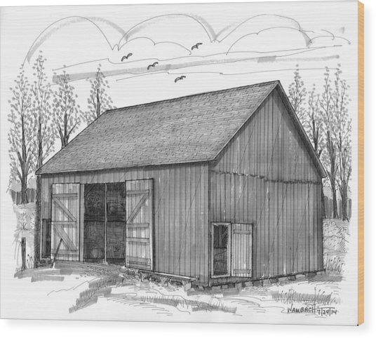The Lawrence Barn Wood Print