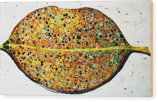 The Leaf Wood Print by Emil Bodourov