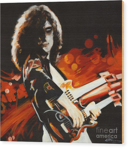 Stairway To Heaven. Jimmy Page  Wood Print