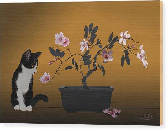 The Legend Of Maneki-neko  Wood Print