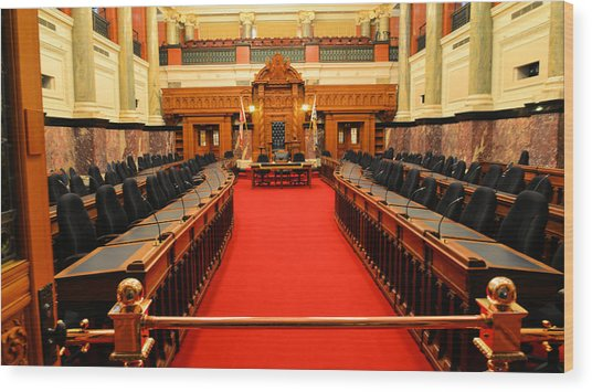 The Legislature Victoria Bc Wood Print