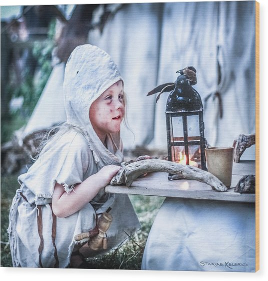 Wood Print featuring the photograph The Leprosy Child And The Healing Lantern by Stwayne Keubrick