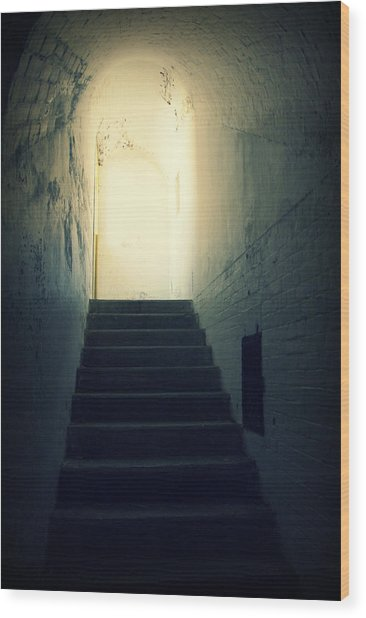 The Light At The Top Of The Stairs Wood Print