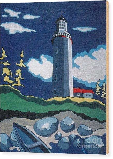 The Lighthhouse Wood Print