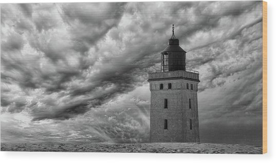 The Lighthouse Mood. Wood Print by Leif L?ndal