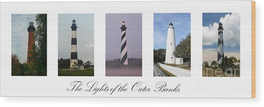 The Lights Of The Outer Banks Wood Print
