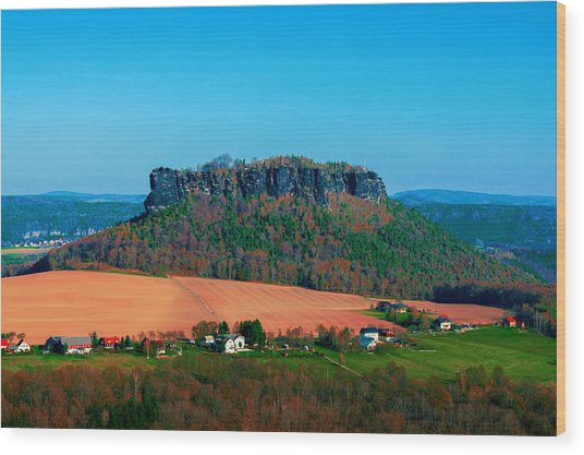 The Lilienstein Wood Print