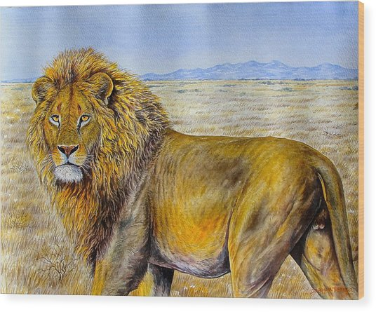 The Lion Rules Wood Print