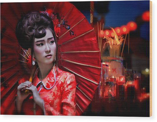 The Little Girl From China Wood Print
